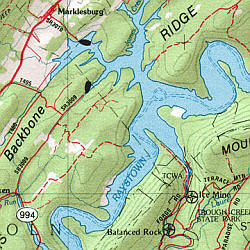 Pennsylvania Road, Topographic, and Shaded Relief Tourist ATLAS and Gazetteer, America.