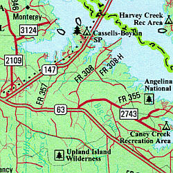 Texas Road, Topographic, and Shaded Relief Tourist ATLAS and Gazetteer, America.