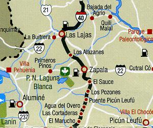 Ruta 40 Regional Road and Tourist Map.