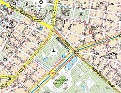 Bulgaria Road and Tourist Map.