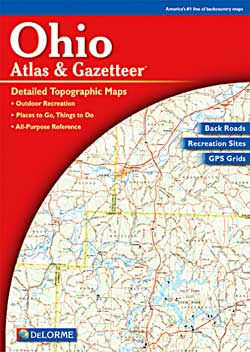 Ohio Road, Shaded Relief and Topographic Tourist ATLAS and Gazetteer, America.