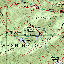 Virginia Road, Topographic, and Shaded Relief Tourist ATLAS and Gazetteer, America.
