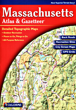 Massachusetts Road, Topographic, and Shaded Relief Tourist ATLAS and Gazetteer, America.