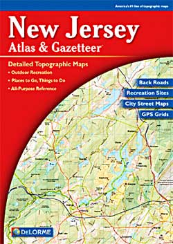 New Jersey Road, Topographic, and Shaded Relief Tourist ATLAS and Gazetteer, America.