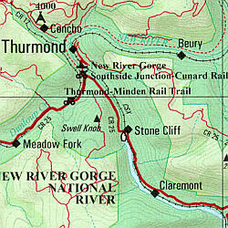 West Virginia Road, Topographic, and Shaded Relief Tourist ATLAS and Gazetteer, America.