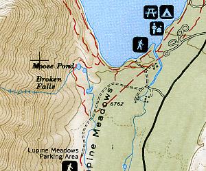 Grand Teton National Park, Road and Recreation Map (Hiking), Wyoming, America.