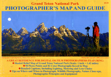 Grand Teton National Park, Road and Recreation Map (Photograph), Wyoming, America.