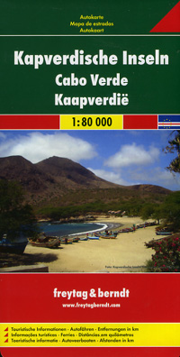 Cape Verde Islands Road and Shaded Relief Tourist Map.