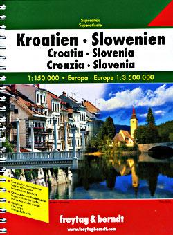 Croatia and Slovenia, Tourist Road ATLAS.