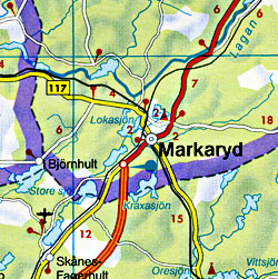 Denmark Road and Shaded Relief Tourist Map.