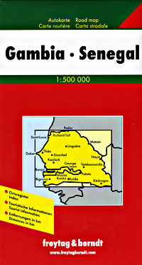 The Gambia Road and Tourist Map.