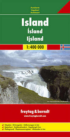 Iceland Road and Shaded Relief Tourist Map.