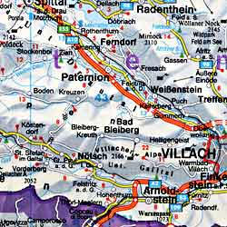 Freytag-Berndt Italy Road Map, Travel, Tourist, Detailed, Driving.