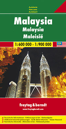 Malaysia Road and Tourist Map.