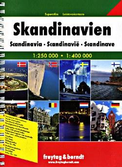 Scandinavia (Denmark, Norway, Sweden and Finland) Tourist Road ATLAS.