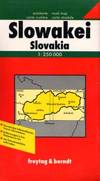 Slovakia Road and Shaded Relief Tourist Map.