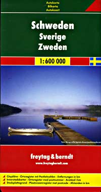 Sweden Road and Tourist Map.