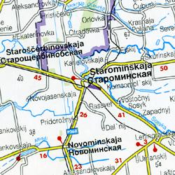 Ukraine, The Crimea, and Moldova, Road and Shaded Relief Tourist Map.