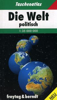 """World Political Pocket Atlas Hardbound""."