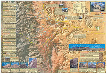 Red Rock Canyon Trail Road and Recreation Map, America.