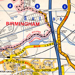 Birmingham (Deluxe) Street ATLAS, England, United Kingdom.