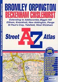 Bromley and Orpington Street ATLAS, England, United Kingdom.