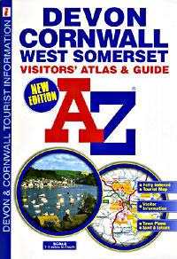 Devon and Cornwall Tourist Road ATLAS.