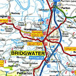 Devon Visitors Road and Tourist Map.