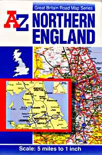 England Northern Road and Tourist Map.