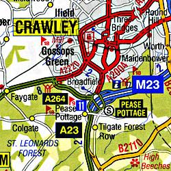England South East Regional Tourist Road ATLAS.