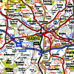 England South West and South Wales Road and Tourist Map.