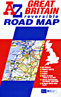 Great Britain (Reversible) Road and Tourist Map.