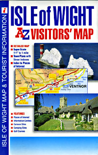 """Isle Of Wight """"Visitors"""" Road and Tourist Map."""