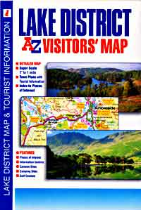 """Lake District """"Visitors"""" Road and Tourist Map."""