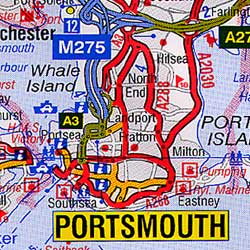"""London """"50 Miles Around"""" Road and Tourist Map."""