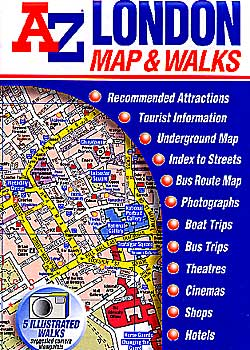 "LONDON ""Map and Walks"", England, United Kingdom."