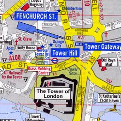 "LONDON ""Visitors Map"", England, United Kingdom."
