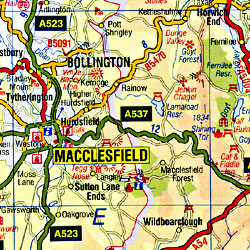 Wales North Road and Tourist Map.