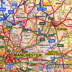 """Peak District """"Visitors"""" Road and Tourist Map."""