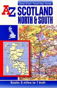 Scotland, Road and Shaded Relief Tourist Map.