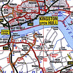 Wales and Central England Road and Tourist Map.