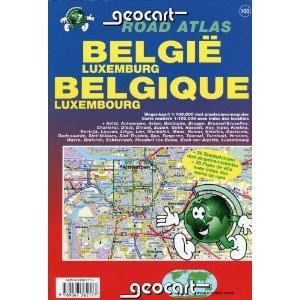 Belgium & Luxembourg Tourist Road ATLAS.