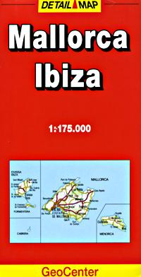 Mallorca (Balearic Islands), Road and Tourist Map.