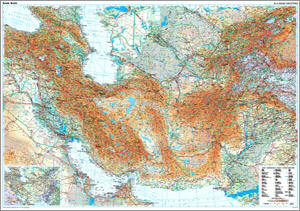 Asia (Central) Silk Road Countries WALL Map.