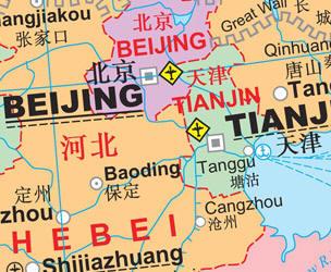 China Political WALL Map.