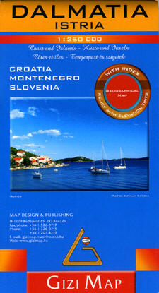 Dalmatia Istria Road and Physical Tourist Map.