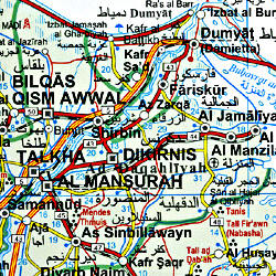 Egypt Road and Physical Tourist Map.
