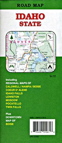 Idaho Road and Tourist Map, America.