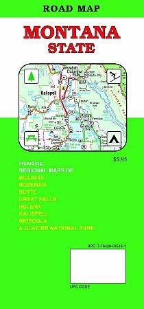 Montana Road and Tourist Map, America.