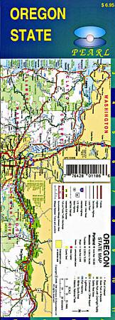 Oregon Pearl Road and Tourist Map, America.